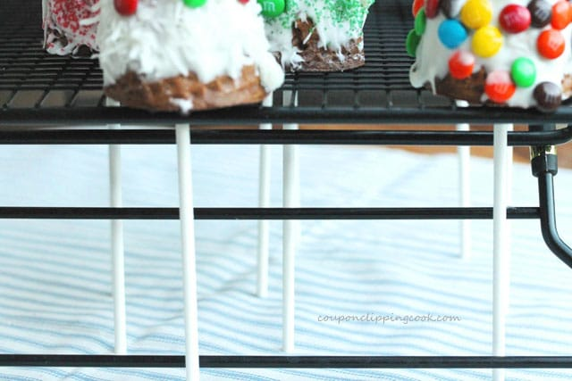 Candy Christmas Cones on rack
