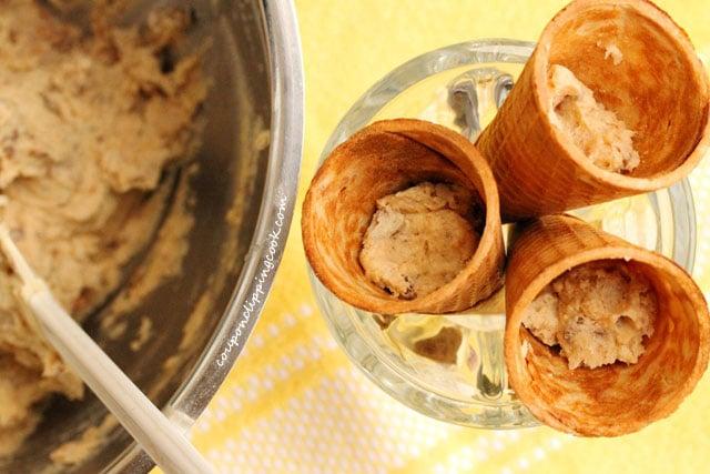 Sugar Cones with Cookie Dough