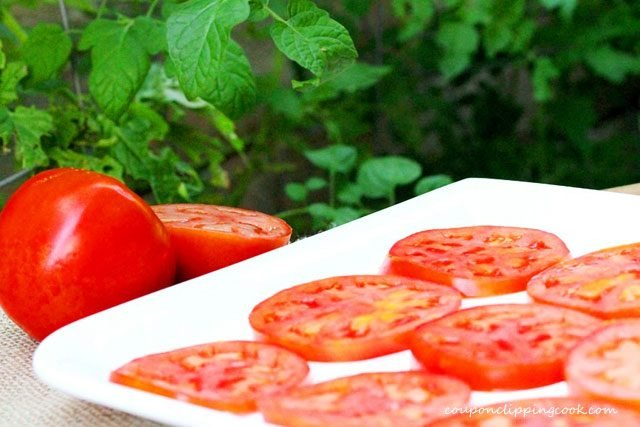 Sliced Tomatoes on Plate