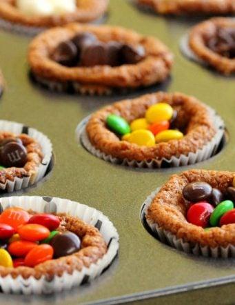 Chocolate Toffee Caramel Cupcookies