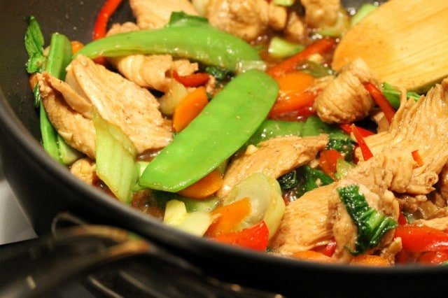 Cooking Stir Fry in Pan