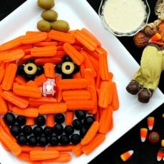 Pumpkin Head Relish Tray