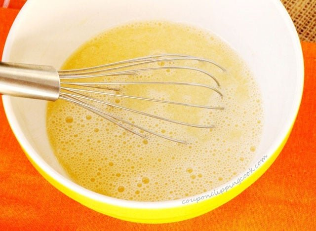 Whisk Egg Mixture for Cupcake Batter
