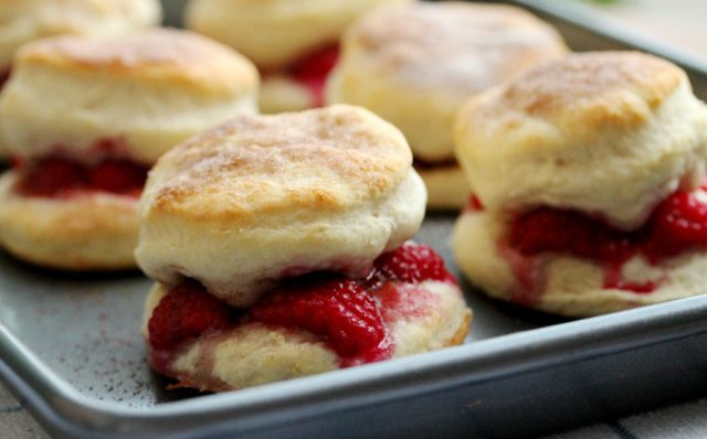 Biscuits on Pan
