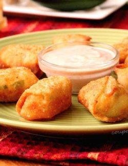 Wonton Cheese Bites