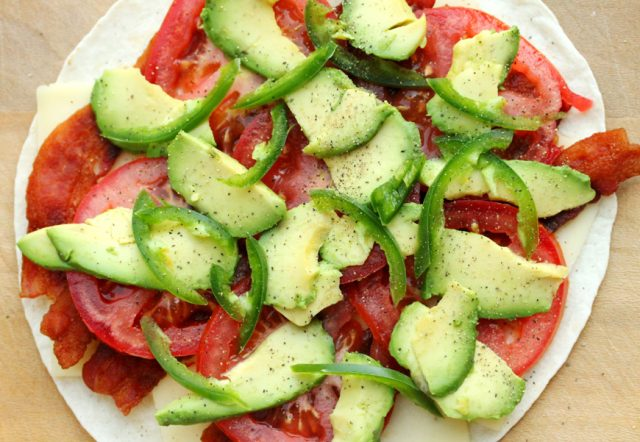 Jalapeno and Avocado on tortilla