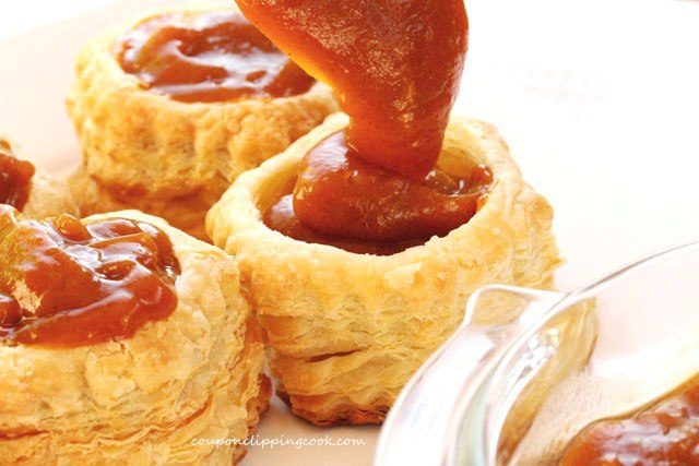 Pumpkin Pudding in Puff Pastry
