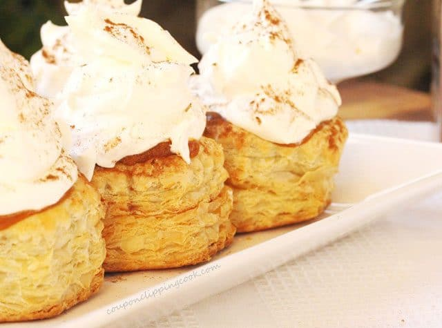 Pumpkin Pudding Puff Pastry on Dish