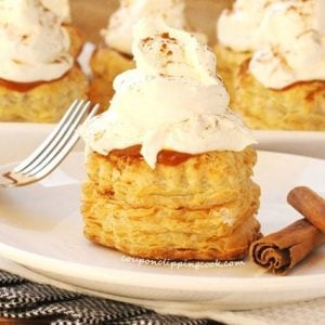 Pumpkin Pudding Puff Pastry on Plate