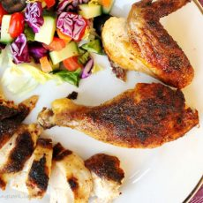 Roasted Blackened Chicken on Plate