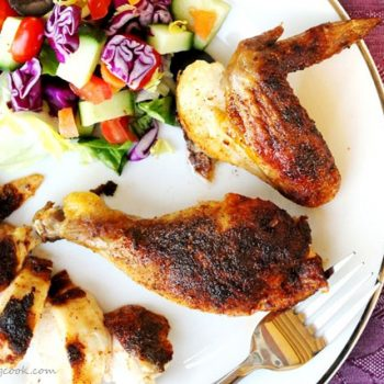 Blacked Chicken on Plate