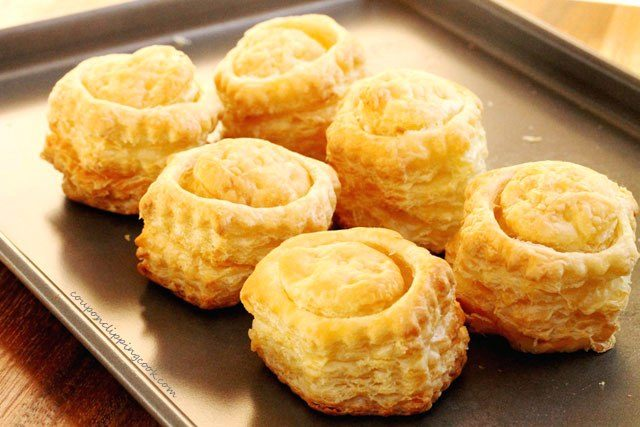 Baked Puff Pastry on Pan