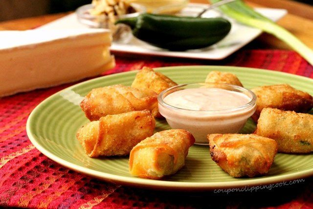 Wonton Cheese Bites on plate