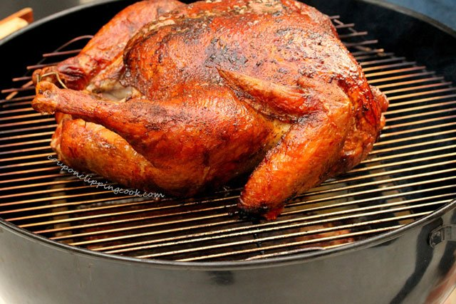 Grilled Whole Turkey on Kettle BBQ