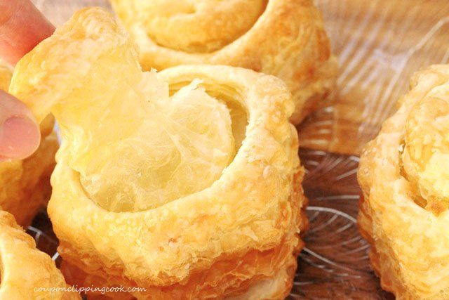 Baked Puff Pastries on Pan