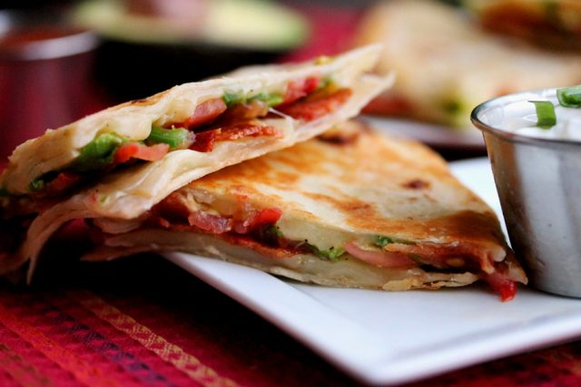 Bacon Quesadilla on plate