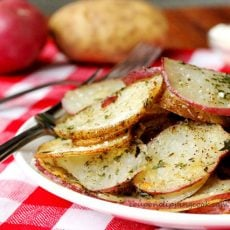 Herb Parmesan Potato Slices