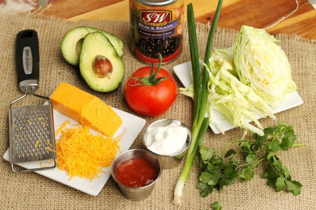 Black Bean Tostadas Ingredients