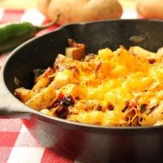 Cheesy Jalapeno Skillet Potatoes