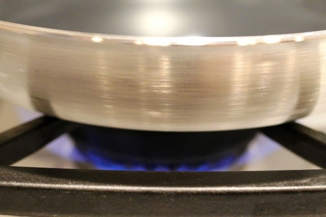 Heat Skillet on Stove