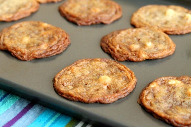 Toffee, Caramel and White Chocolate Cookies