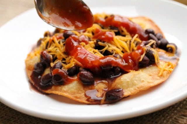 Salsa on Black Beans