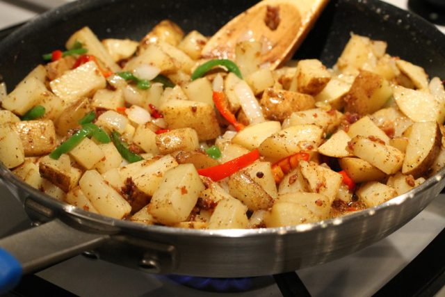 Fry Potatoes in Skillet