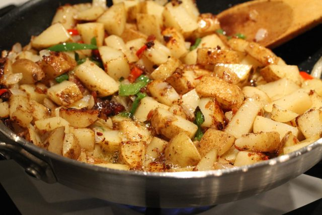 Fry Potatoes in Pan