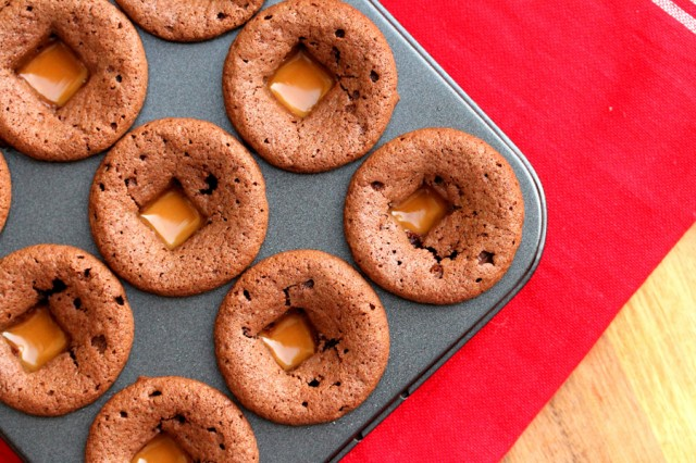 Caramel in Brownie Batter
