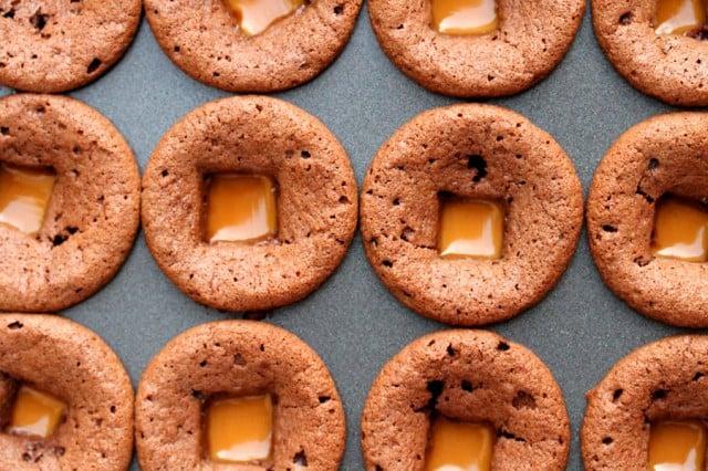 Caramel in Baked Brownies