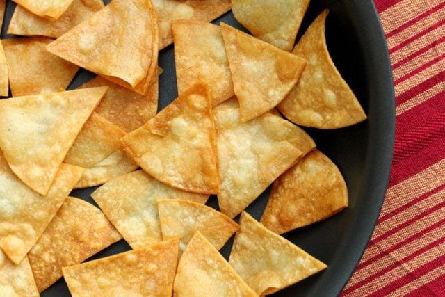 Tortilla Chips in Skillet