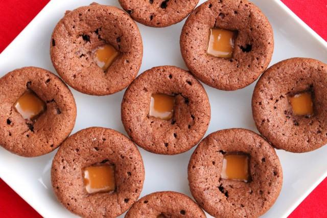 Caramel Brownies on Plate