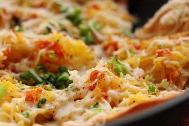 Spaghetti Squash Nachos in pan