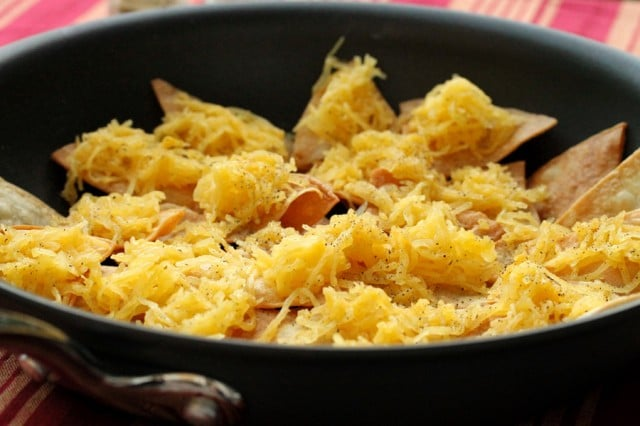 Spaghetti Squash on Tortillas