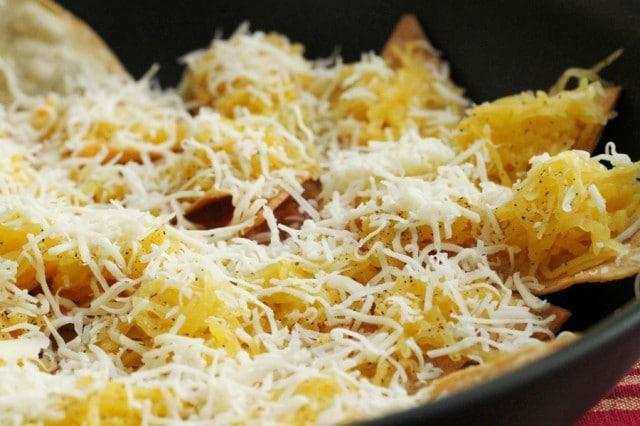 Cheese on Spaghetti Squash