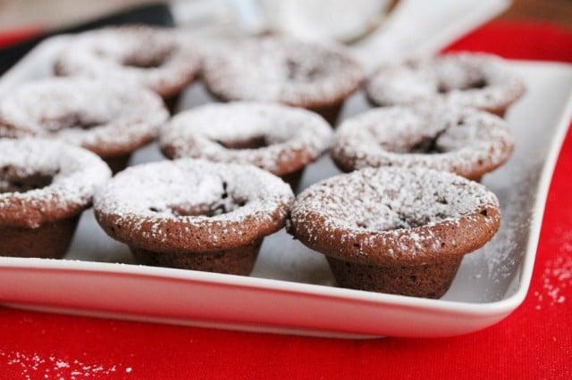 Powdered Sugar on Brownies