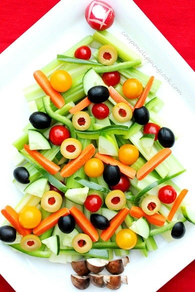 Christmas Veggie Tray.Christmas Tree Relish Tray