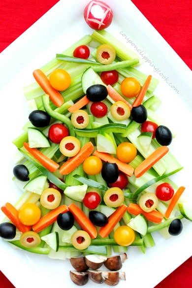 Christmas Tree Relish Tray
