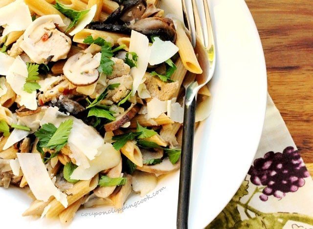 Mushrooms Pasta in Wine Sauce