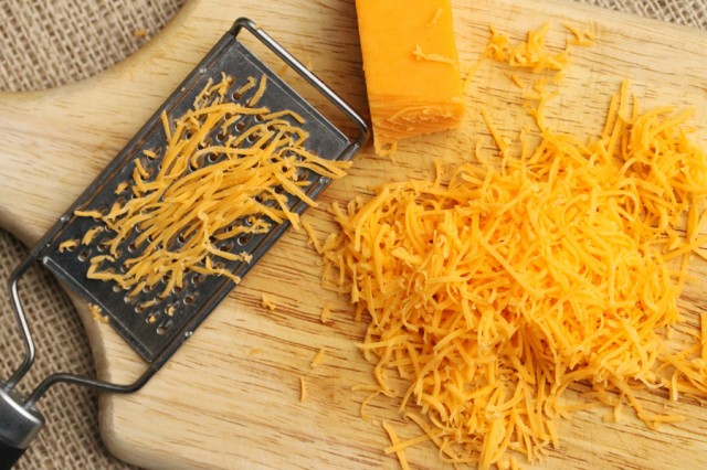 Shredded Cheese on Board