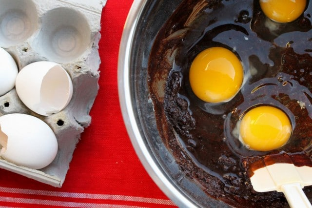 Eggs in Brownie Batter