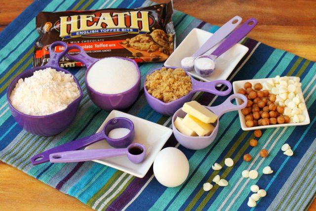 Toffee Caramel Cookie Ingredients