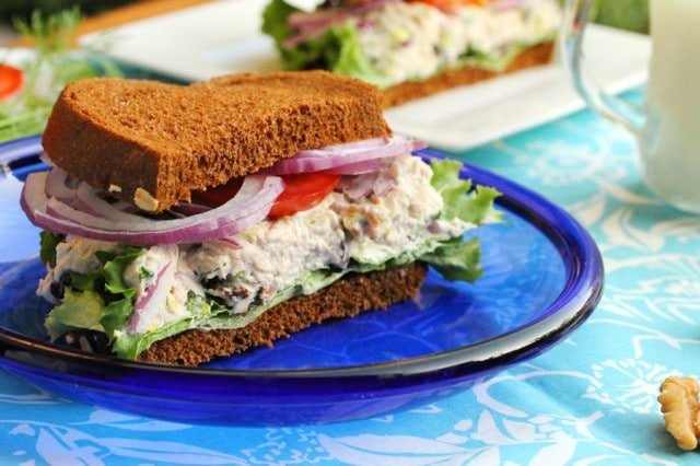 Tuna Sandwich on Plate