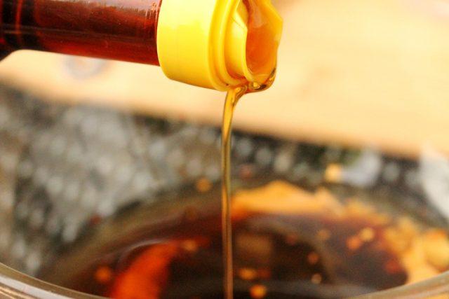 Add Sesame Oil in Bowl
