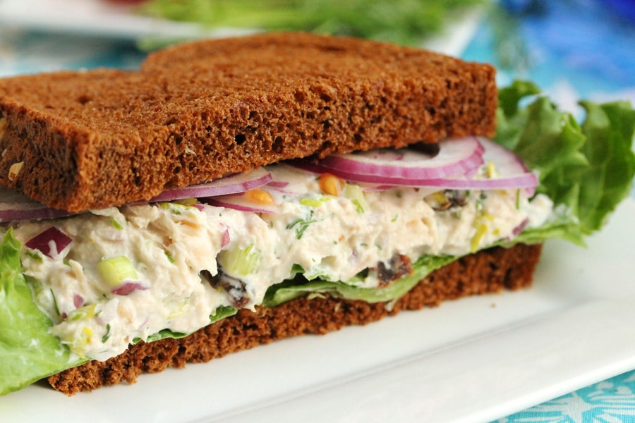 Tuna salad with raisins coupon clipping cook for Tuna fish sandwich