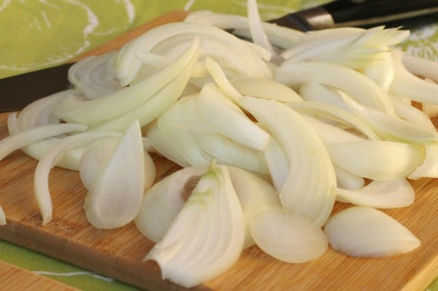 Sliced Onion on Board