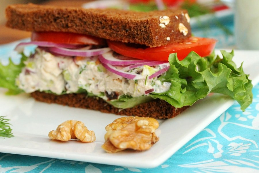 Tuna Salad with Walnuts & Raisins