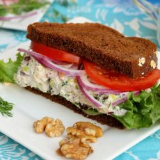 Tuna Salad with Walnuts and Raisins
