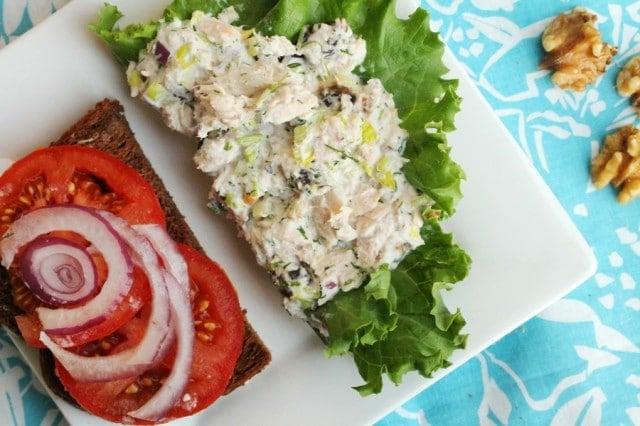 Tuna Salad on Plate