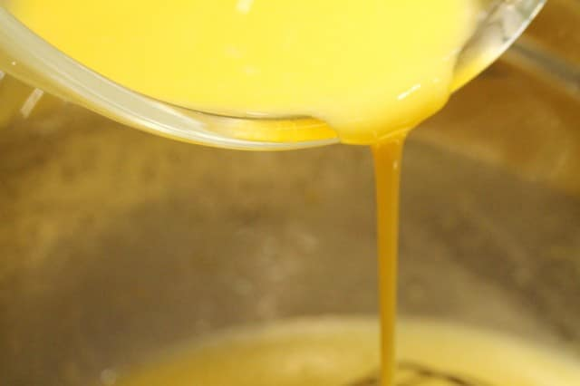 Stir Lemon Curd in Bowl